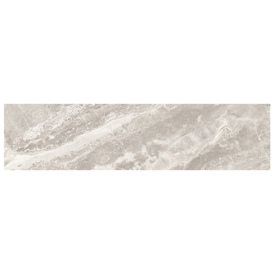"Mayfair 4""x 12"" Glazed Porcelain Subway Tiles - Polished Stella Argento"