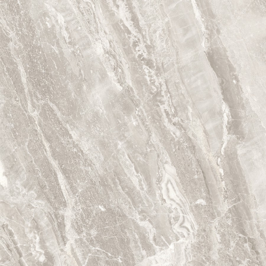 "Mayfair 24"" x 24"" Glazed Porcelain Tiles - Polished Stella Argento"