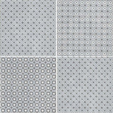 "Melody 8"" x 8"" Glazed Porcelain Patterned Tiles - Grey and White Blend"