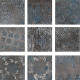 Mestizaje Zellige Chateau Antique Graphite Porcelain 7 x 7 Floor Tiles