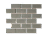 Victorian Beveled Gray Gloss Mosaic Tile