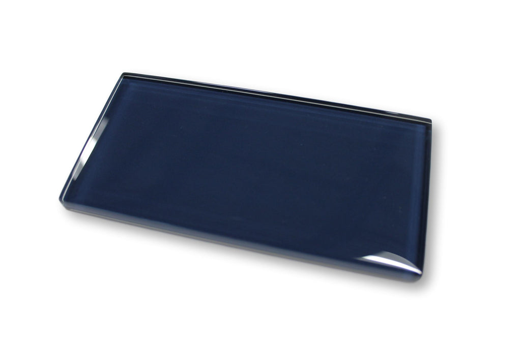 Navy Blue 3x6 Glass Subway Tiles