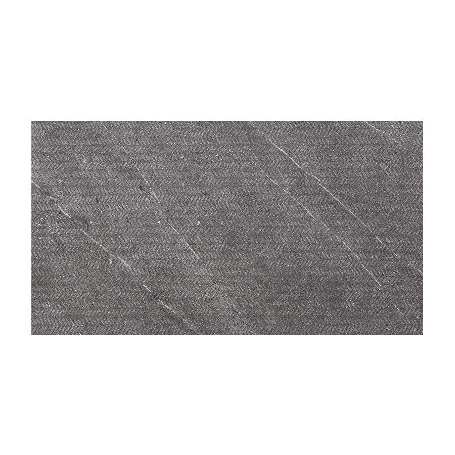"Nextone 12"" x 24"" Porcelain Mark Pattern Tiles - Matte Dark"