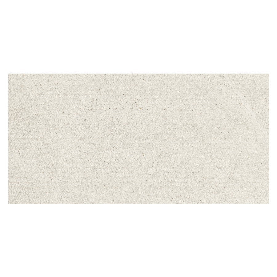 "Nextone 12"" x 24"" Porcelain Mark Pattern Tiles - Matte White"