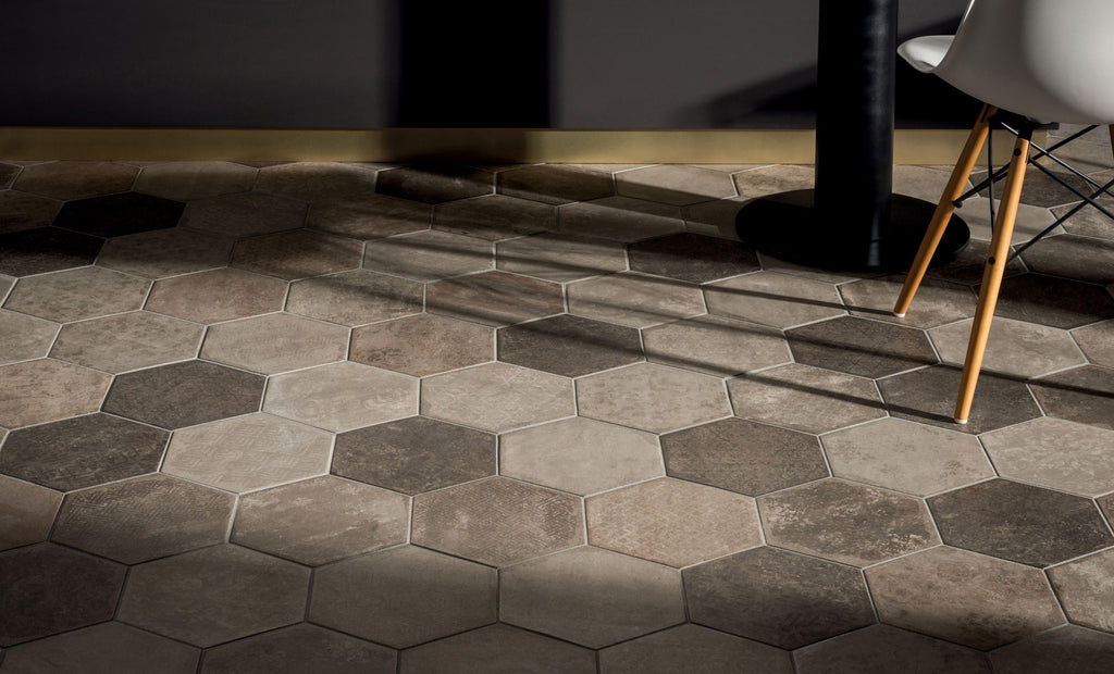 Olive Hexagon - Bricklane Series Glazed Porcelain Tiles