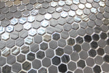 1 Inch Black Hexagon Mosaic Tiles - Rocky Point Tile - Glass and Mosaic Tile Store
