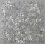 Mother of Pearl Oyster White 1 Inch Circle Mosaic Tiles - Rocky Point Tile - Glass and Mosaic Tile Store