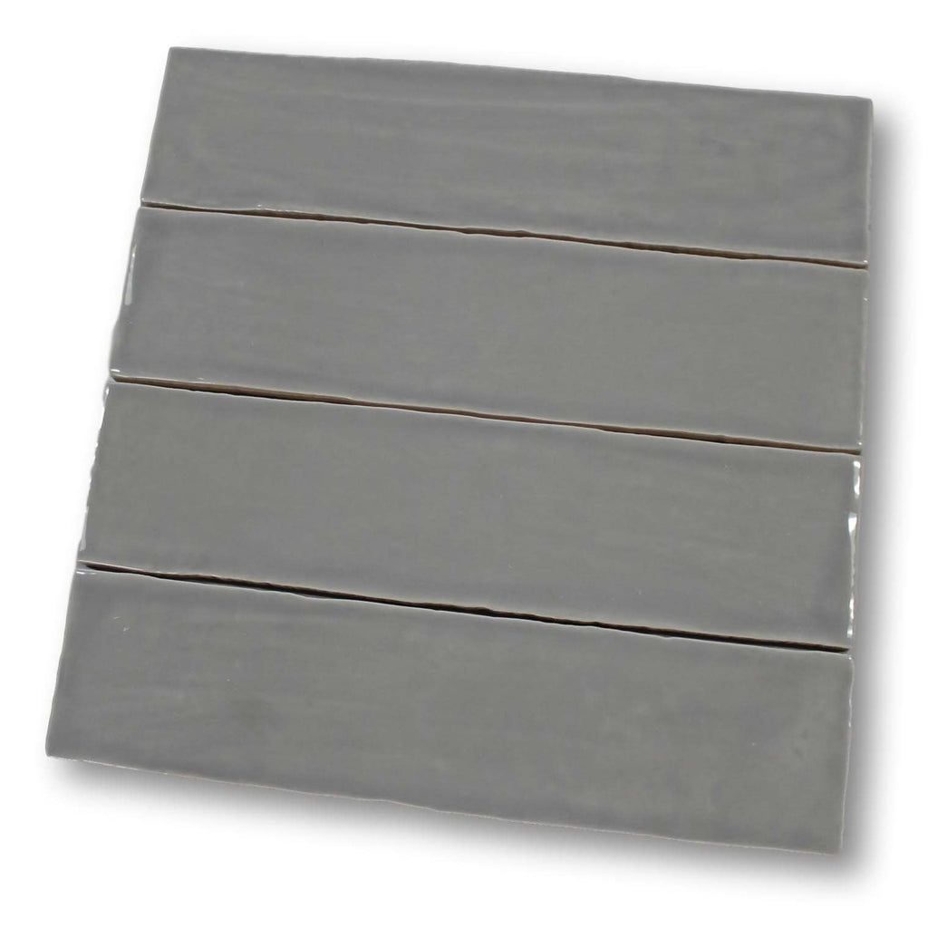 Tencer Tiempo 3 x 12 Ceramic Subway Tiles - Pewter