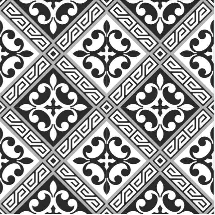 Picasso Porcelain 8″ × 8″ Cement Look Tiles - Revival Victoria