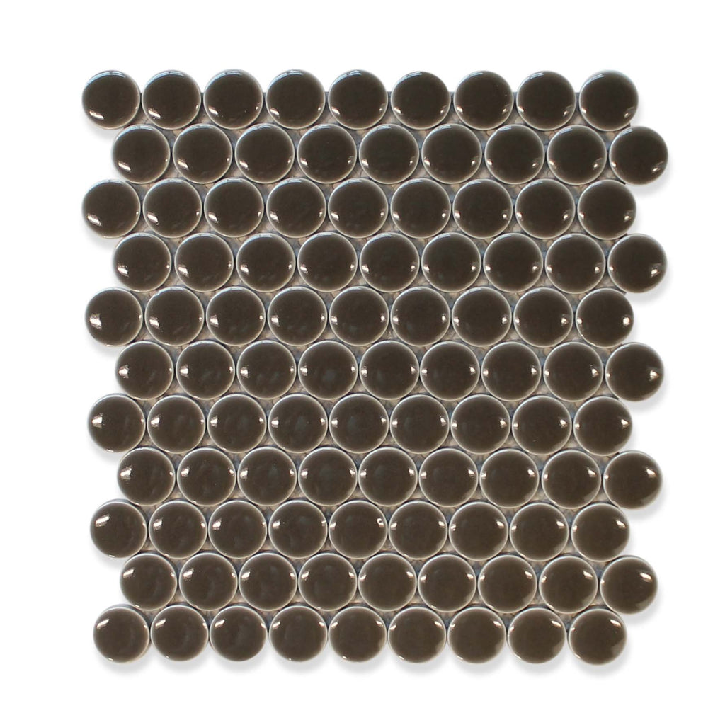 "Queens 1"" Penny Round Mosaic Tiles - Geckos"