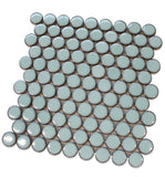 "Queens 1"" Penny Round Mosaic Tiles - Thunderbirds"
