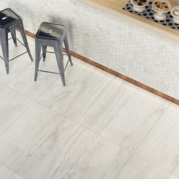 "Reverso 18"" x 36"" Porcelain Tiles - Natural White"