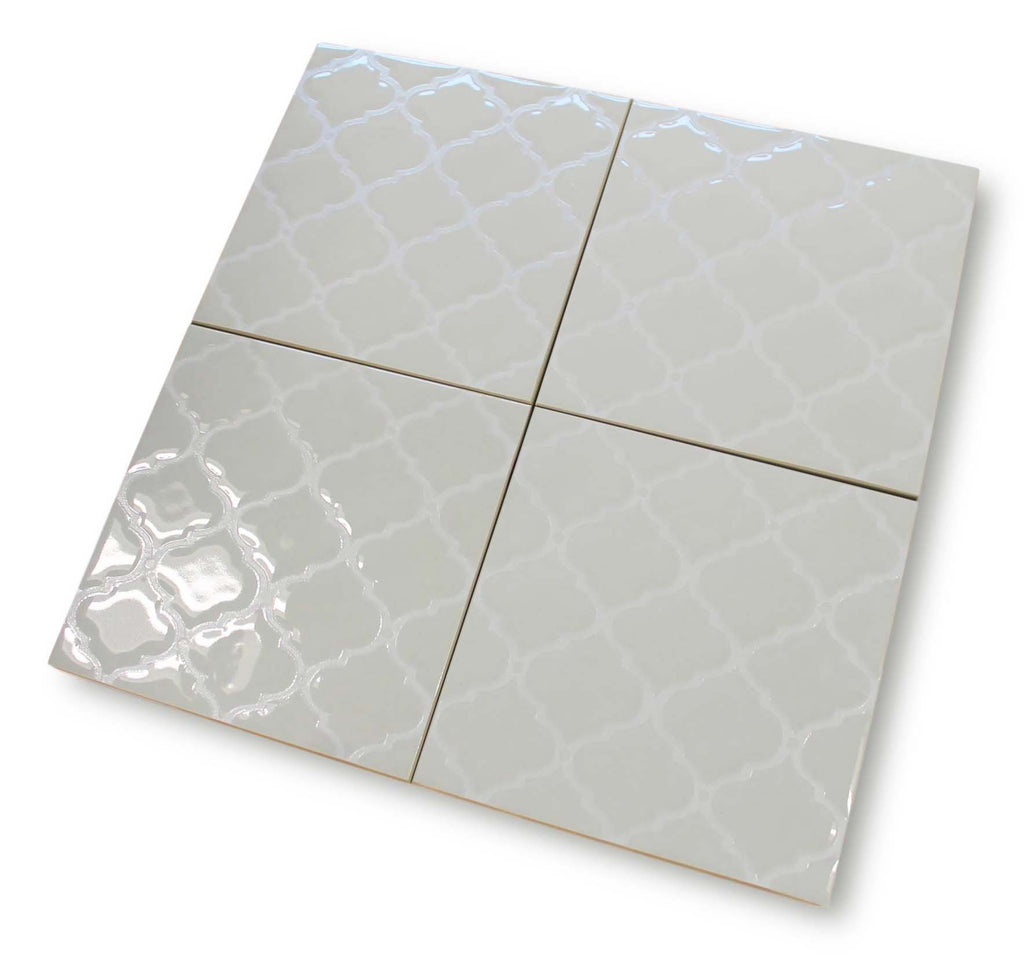 Riflessi Arabesque Hand Glazed Porcelain Tiles - Bianco