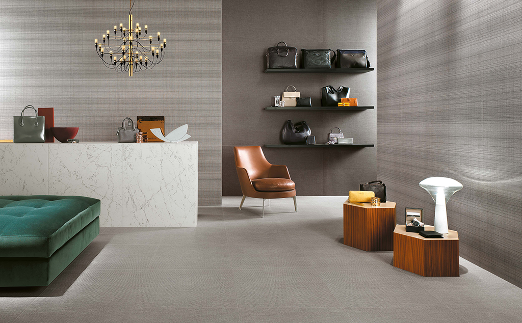 "Pearl Twill 23.5"" x 23.5"" Porcelain Tiles - Room Series"
