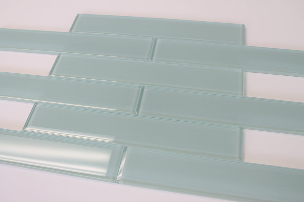 Seafoam 2x12 Glass Subway Tiles - Rocky Point Tile - Glass and Mosaic Tile Store