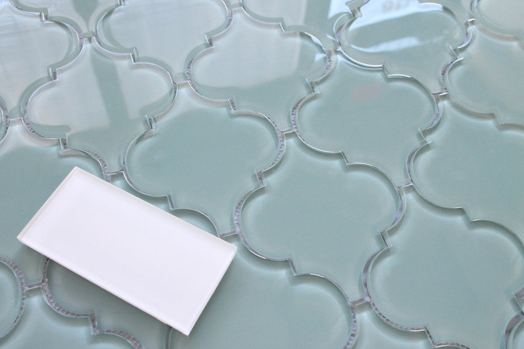 Seaside Arabesque Glass Mosaic Tiles - Rocky Point Tile - Glass and Mosaic Tile Store