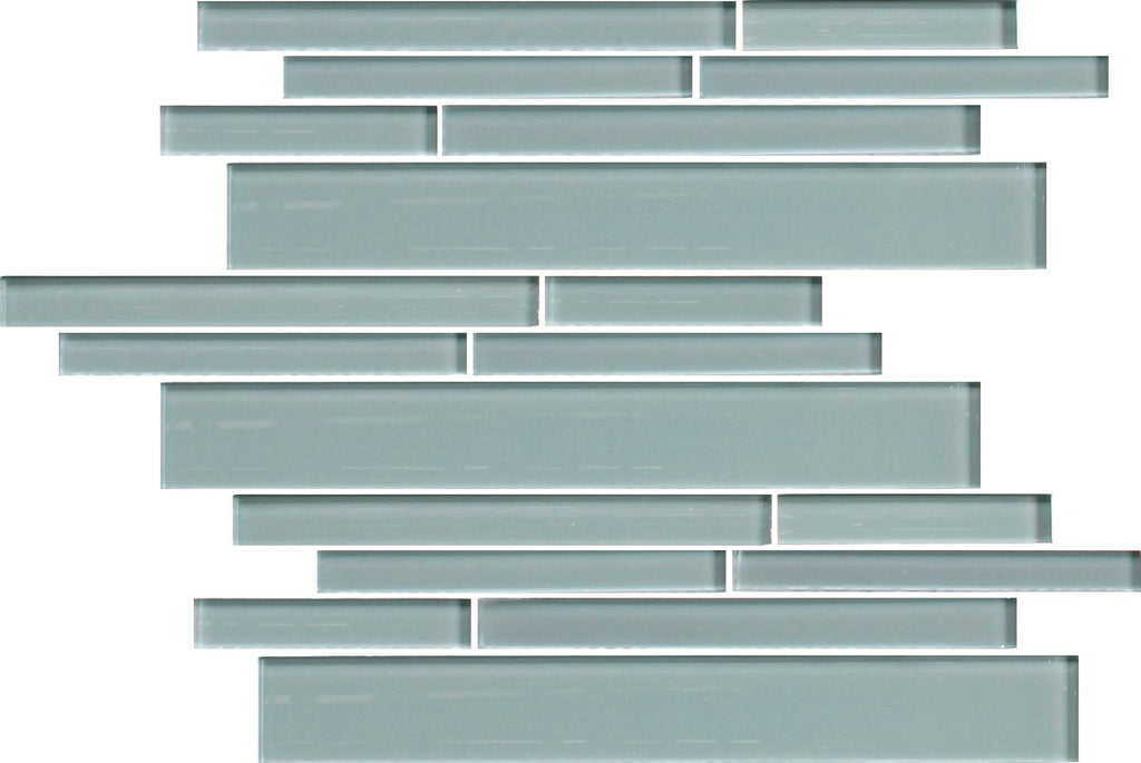 Seaside Blue Linear Glass Mosaic Tile - Rocky Point Tile - Glass and Mosaic Tile Store