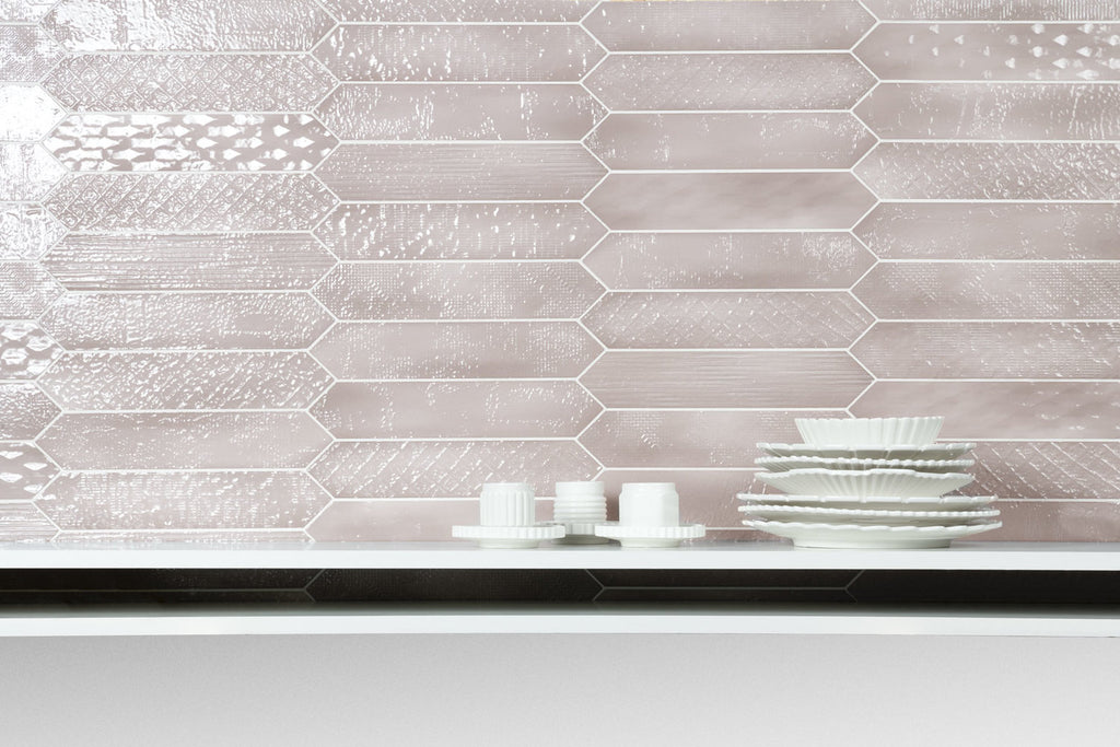 Sfumature Glossy Ceramic Wall Tiles -  Cipria Patterned