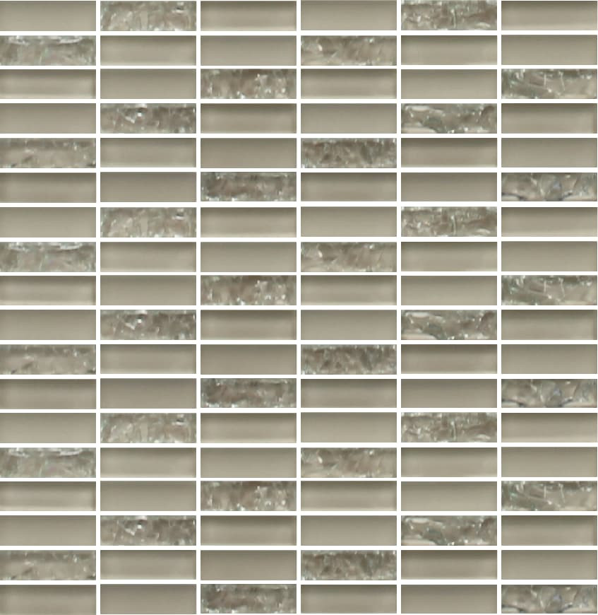 Sparkle Beige Glass Mosaic Subway Tiles - Rocky Point Tile - Glass and Mosaic Tile Store