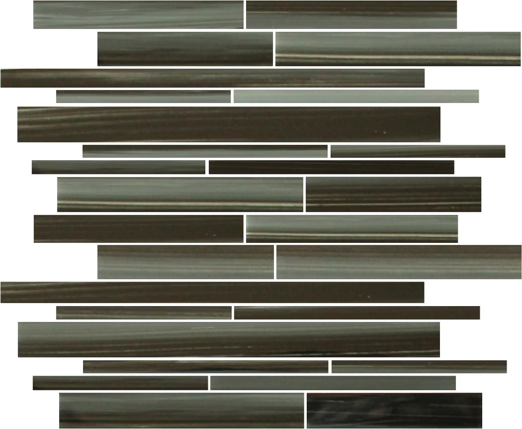 Starry Night Hand Painted Linear Glass Mosaic Tiles - Rocky Point Tile - Glass and Mosaic Tile Store