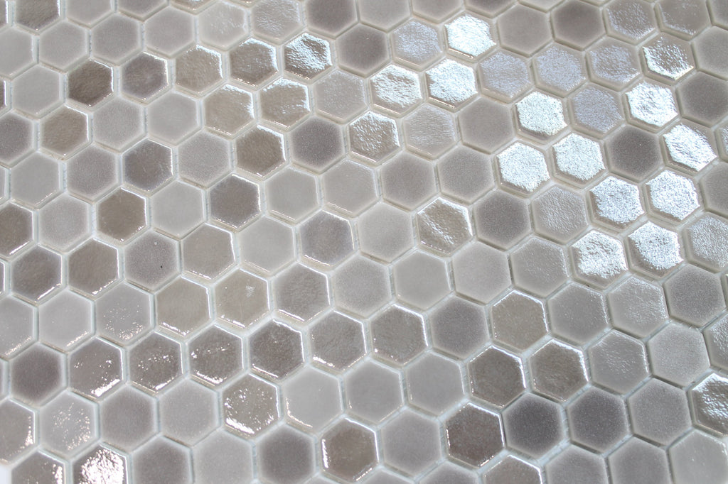 1 Inch Taupe Hexagon Mosaic Tiles - Rocky Point Tile - Glass and Mosaic Tile Store