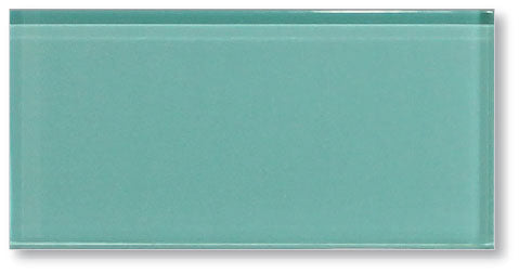 Teal Green 3x6 Glass Subway Tiles