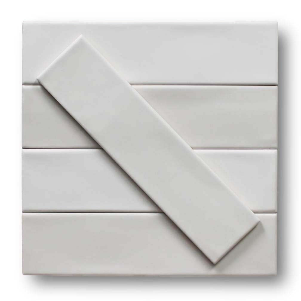 "Tencer Gradient 3"" x 12"" Glazed Ceramic Subway Tiles - Matte White"