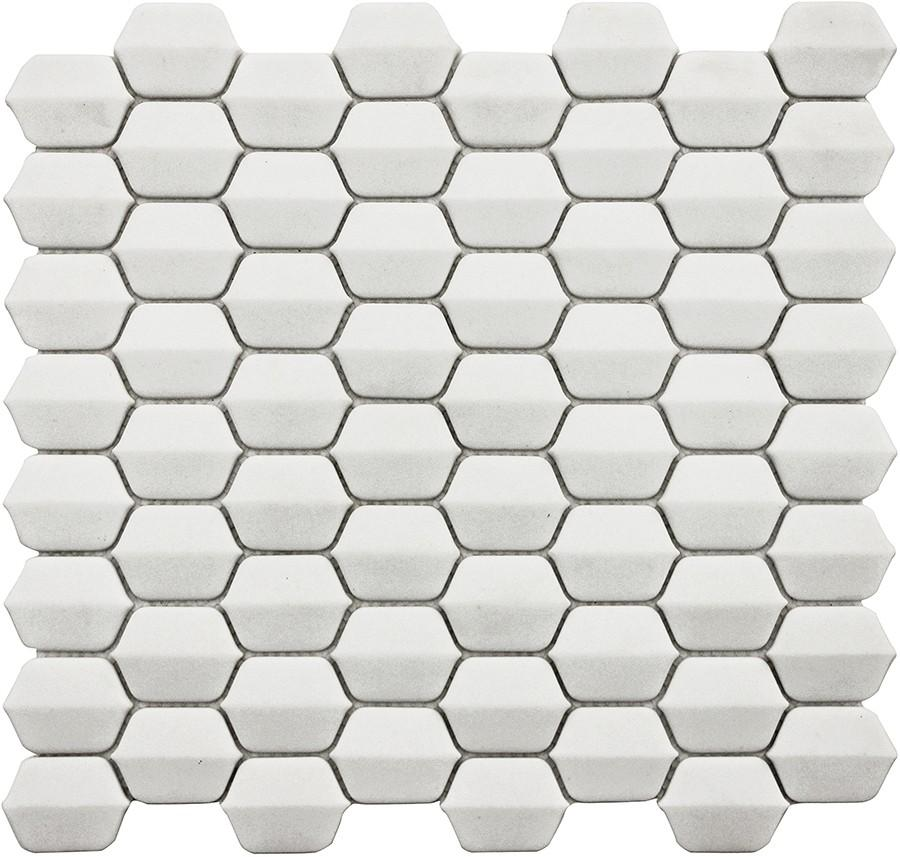 Vetro D'Terra Glass Dolomite Elongated Hexagon Mosaics - Rocky Point Tile - Glass and Mosaic Tile Store