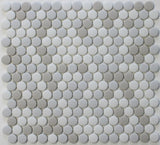 Vetro D'Terra Calacatta Penny Round Glass Mosaic Tiles - Rocky Point Tile - Glass and Mosaic Tile Store