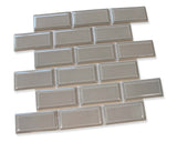 Victorian Beveled Silver Gloss Mosaic Tile