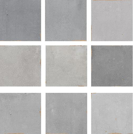 Mestizaje Zellige 5 x 5 Ceramic Tiles - Grey Decor