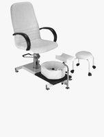 Hydraulic Pedicure Chair With Stool