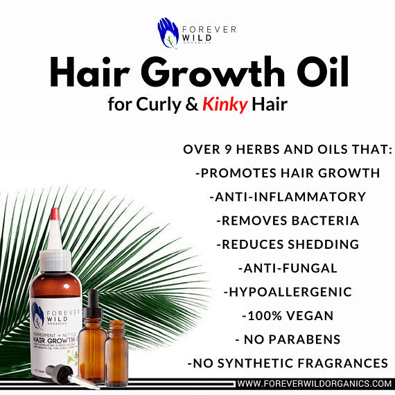 Hair + Beard Growth Oil for Curly, Kinky, Coils