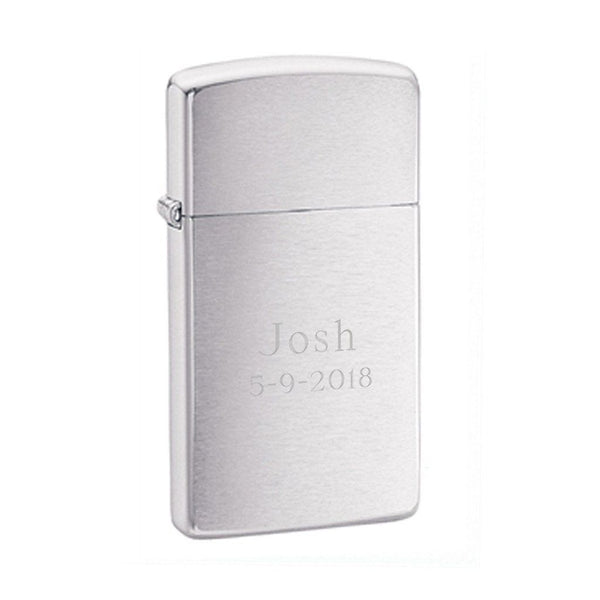 Zippo Brushed Slim Lighter