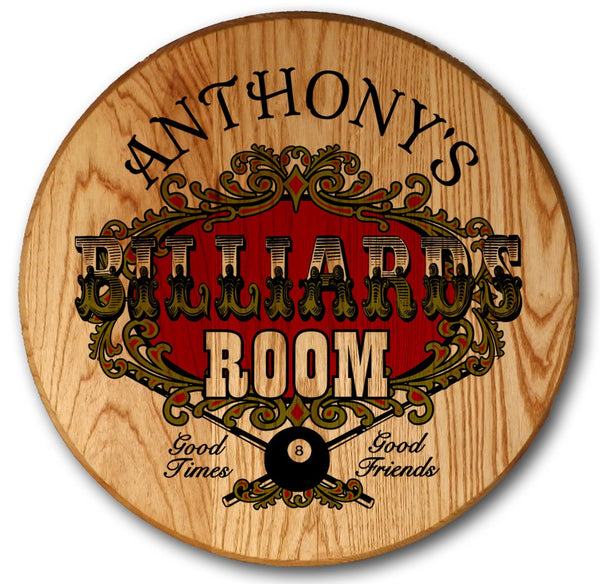 Billiard Room - Color Barrel Head