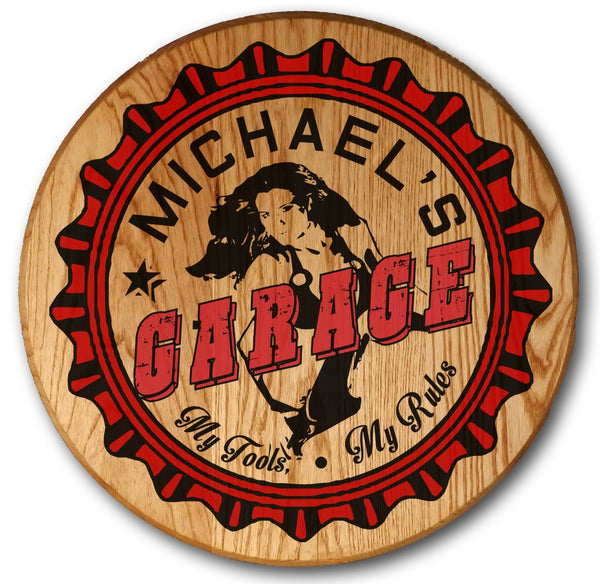 Garage Girl - Color Barrel Head