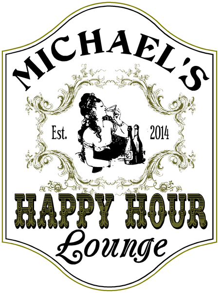Happy Hour Lounge - Sign