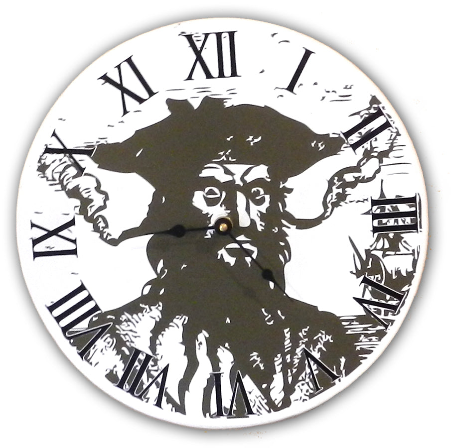 Blackbeard Clock - Sign