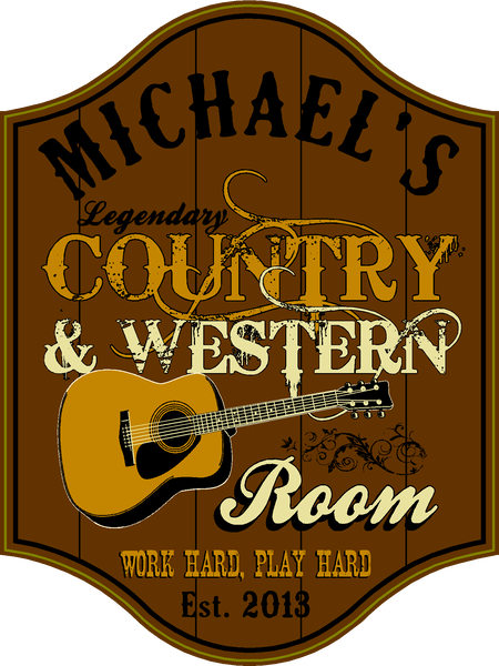 Country & Western Room - Sign