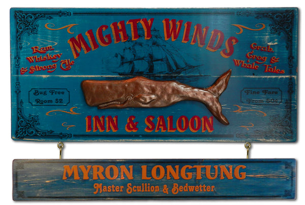 Mighty Winds - Vintage Plank Signs / Nameplate