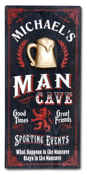 Mancave - Vintage Plank Signs