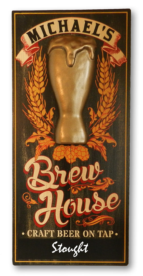 Brewhouse W/Chalkboard - Vintage Plank Signs