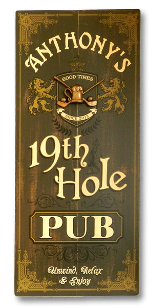 19Th Hole - Vintage Plank Signs