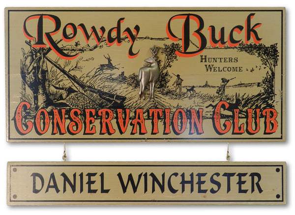Rowdy Buck - Vintage Plank Signs / Nameplate
