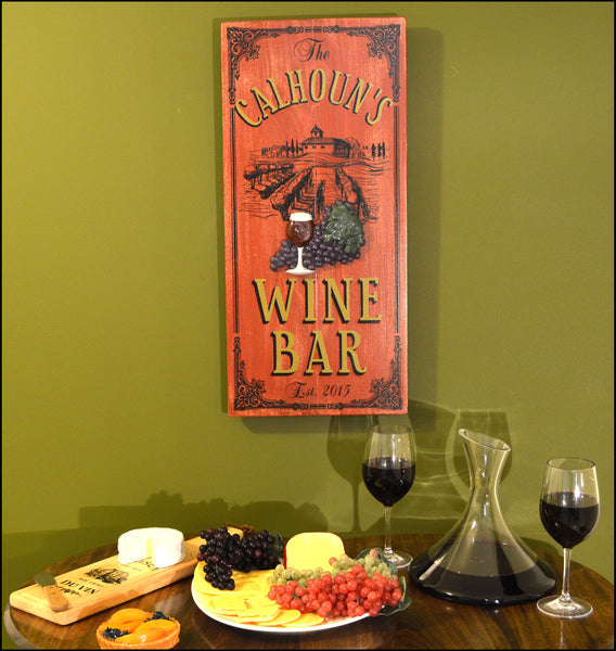 Chataue Wine Bar - Vintage Plank Signs