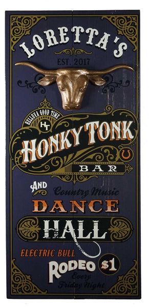 Honky Tonk - Vintage Plank Signs