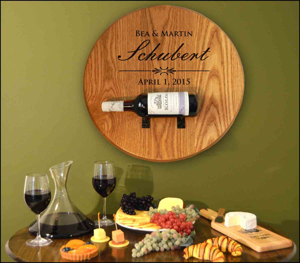 Schubert-Wedding Barrel Head w/ Bottle Holder