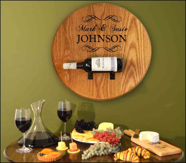 Johnson-Wedding Barrel Head w/ Bottle Holder