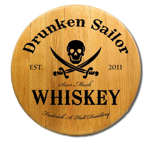 Drunken Sailor - Engraved Barrel Head