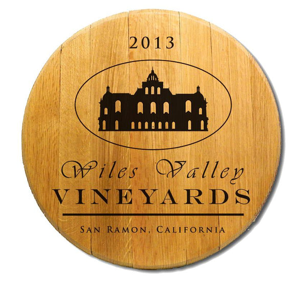 Wiles Vineyard - Engraved Barrel Head